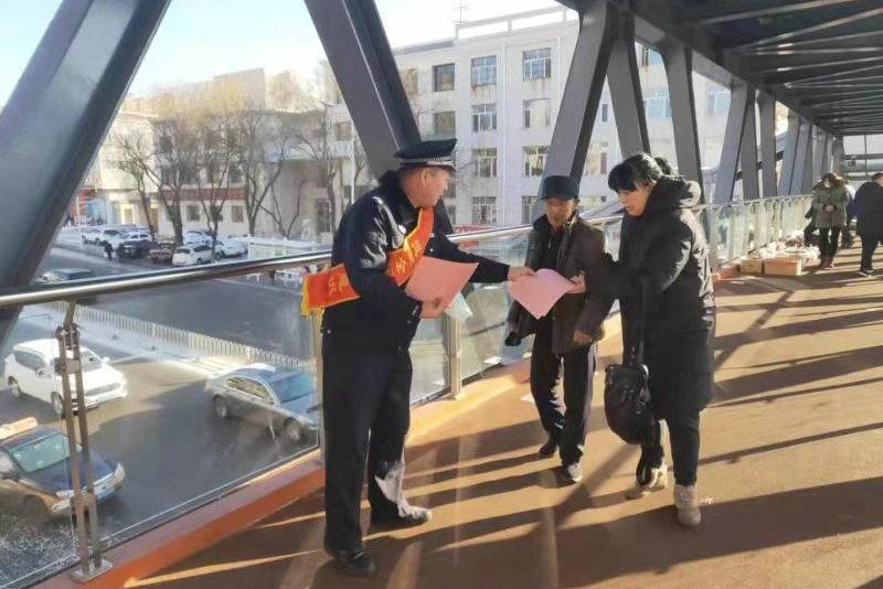 准格尔旗公安局反恐大队开展反恐安全宣传活动