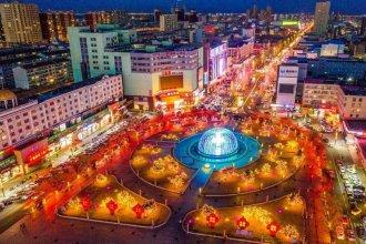 2021年乌兰察布的春节夜景